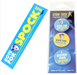 EMP_Museum_Shop_-_Star_Trek_Vote_Spock_Bumper_Sticker___Button_Set